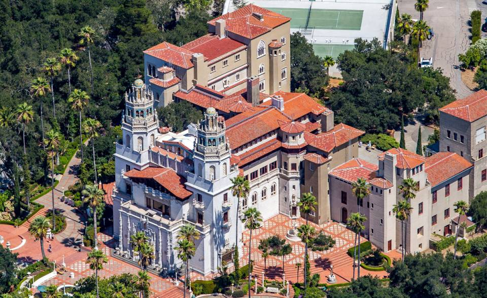 Hearst castle casa grande historical renovation replica clay roof tile