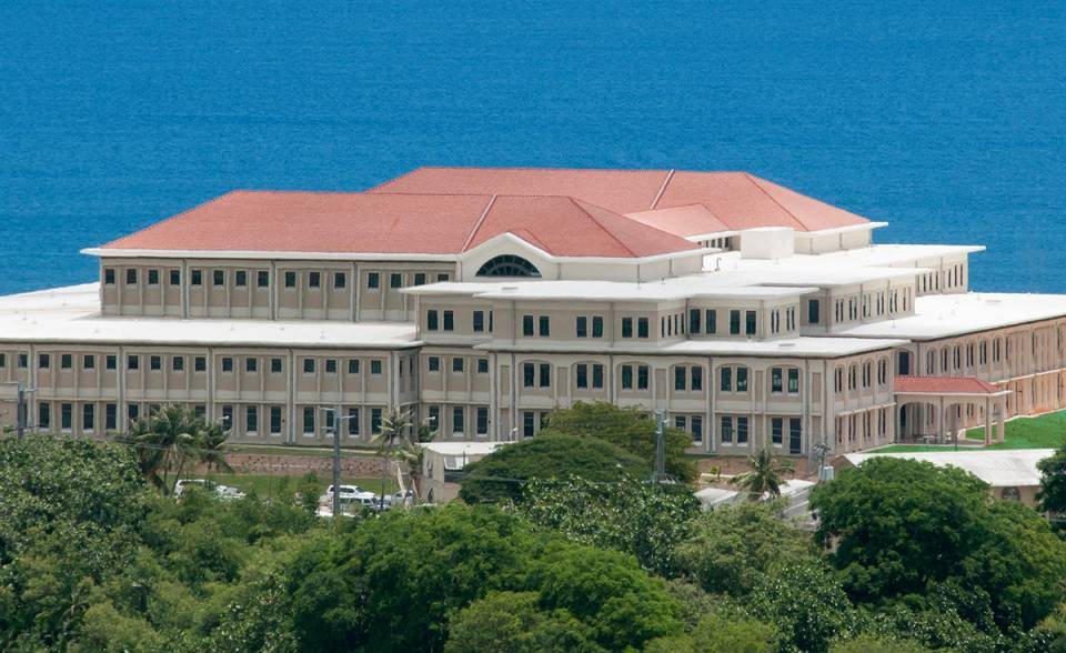 one piece s mission clay roof tile in f40 natural red on  US Naval Hospital, Guam
