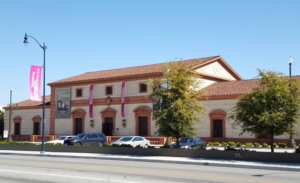 historical replica roman pan and top tiles on Wallis Annenberg Center for the Performing Arts Beverly Hills california