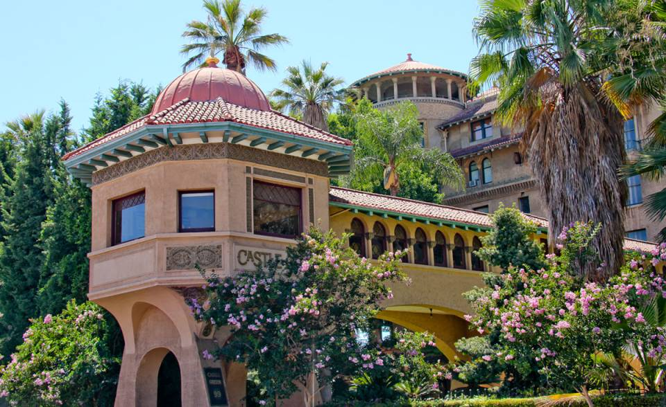 historical renovation of castle green in Pasadena california with custom replica clay roof tile