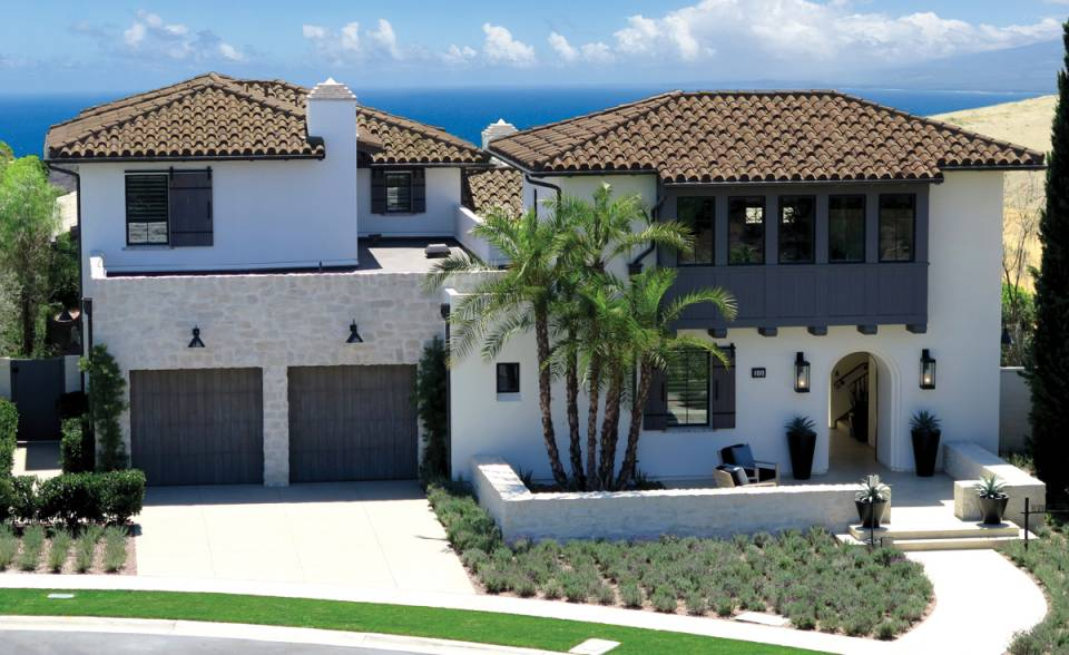 "Classic ""S"" Mission Clay Roof Tile in CB364-R Vintage Carmel Blend- Home in Coral Canyon at Crystal Cove"