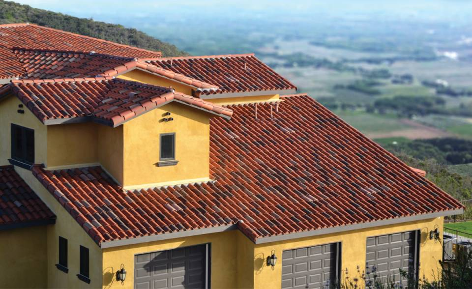"Classic ""S"" Mission Clay Roof Tile in Custom Colors - Home in Temecula, CA"