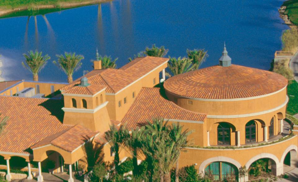 360 degrees turret tile in B301 old mission blend on club house at lake Las Vegas, Nevada